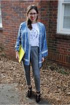 kimono BCBG top - Rebecca Minkoff bag - Lovers  Friends t-shirt