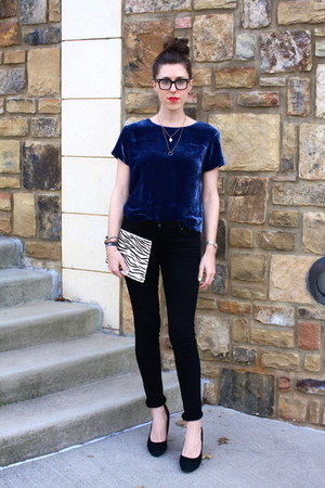 velvet JCrew shirt - citizens of humanity jeans - calfhair madewell bag