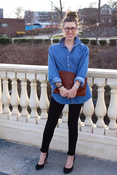 denim Gap shirt - citizens of humanity jeans - vintage bag