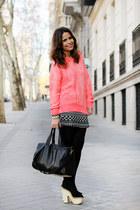 H&M jumper - Modekungen bag - Topshop heels - Urban Outfitters skirt