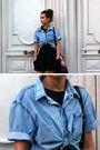 Blue-zara-shirt-black-topshop-top-black-zara-clogs-asos-skirt-blanco-bag