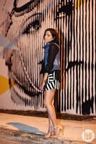 denim The Closet  Boutique vest - stripes The Closet  Boutique shorts