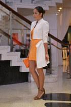 white bcbg max azria coat