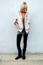 Members Only jacket - American Apparel shirt - Urban Outfitters leggings - Model