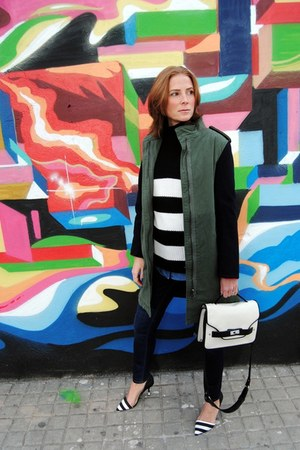 Zara sweater - Zara coat - Zara jeans - Mango bag - Vero Moda blouse