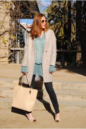 Ines Beneth blouse - suiteblanco shoes - Sheinside coat - Zara jeans - coach bag