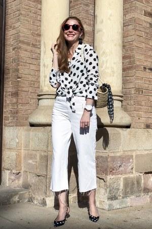 Zara blouse - Zara pants - Zara heels