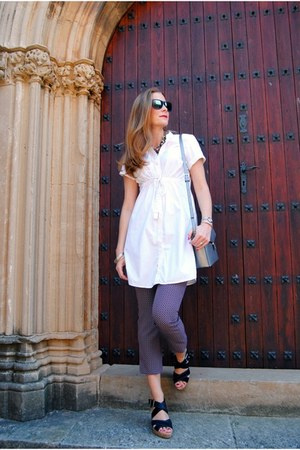 ecco bag - Zara boots - Ray Ban sunglasses - Bimba & Lola sandals