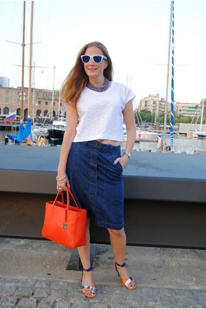 tropik sunglasses - Furla bag - &Other stories sandals - Zara blouse