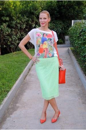 Zara shirt - Zara shoes - Furla bag - Zara skirt
