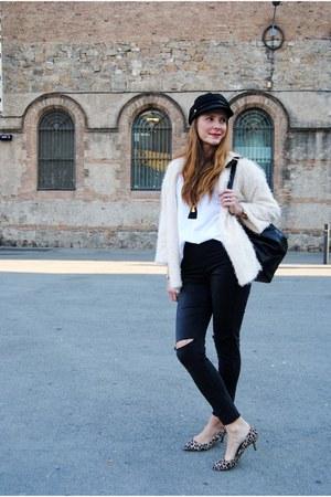 tomates fritos shirt - H&M jeans - Pimkie hat - H&M cardigan - Zara heels