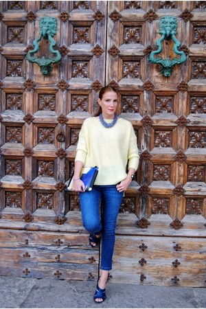 Sita Nevado necklace - Zara jeans - Zara sweater - &Other stories bag