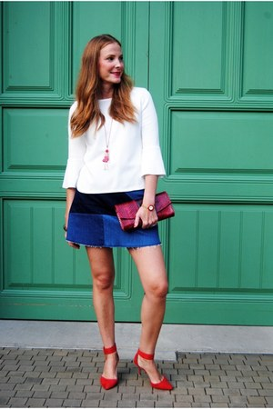 Gucci watch - Zara heels - Zara skirt - Le Carose necklace - Zara top