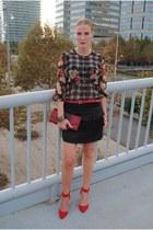 Mango blouse - Ecuadorian Handmade bag - Zara heels - Ona Saez skirt