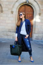 Sita Nevado necklace - Zara jeans - Sheinside jacket - Escorpion sweater