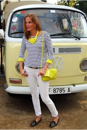 Sheinside shirt - Mango jeans - Zara bag - Lowlita & you necklace