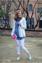 Praia Bags bag - Arrels shoes - Stradivarius jeans - Mango blazer - H&M blouse