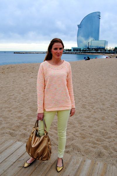 Zara shoes - Lefties sweater - Tous bag - Zara pants