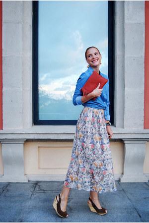 Zara skirt - Vero Moda shirt - mhistik bag