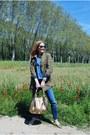 Zara-jeans-stradivarius-jacket-zara-shirt-tous-bag-mango-flats