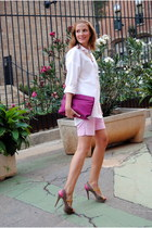 Chic Republic heels - Zara bag - Zara shorts - pull&bear blouse