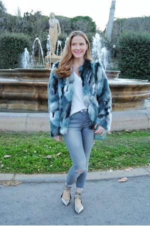 Mango coat - Zara jeans - Tous bag - Pedro del Hierro flats