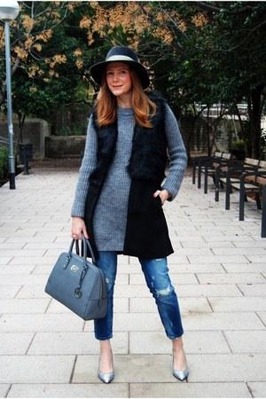 Raceu hat - Zara jeans - Zara sweater - Michael Kors bag - Sheinside vest