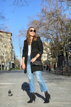 Zara coat - Zara boots - Zara jeans - Chanel bag