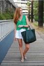 Carolina-herrera-bag-zara-shorts-zara-blouse-zara-heels