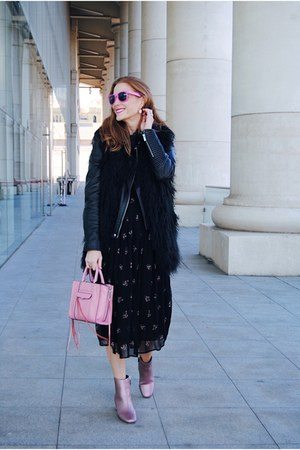 BLANCO jacket - asos boots - Zara dress - Rebecca Minkoff bag - Sheinside vest