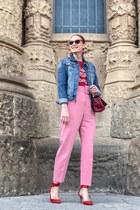 Mango t-shirt - Carolina Herrera bag - Mango sunglasses - Zara heels