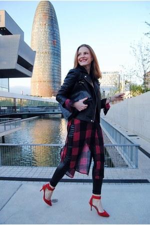 Zara blouse - BLANCO jacket - Wolford leggings - Zara heels