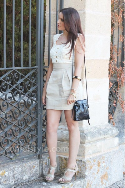 BLANCO dress - Matties bag - Guess sandals - BLANCO bracelet