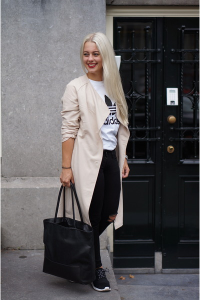H&M coat - nike sneakers - Adidas t-shirt