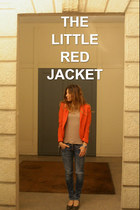 blue Fornarina jeans - red H&M jacket - neutral Alternative Vintage Soft t-shirt