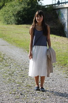 H&M dress - Zara loafers - no brand top - H&M necklace