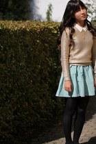 H&M blouse - H&M jumper - H&M skirt