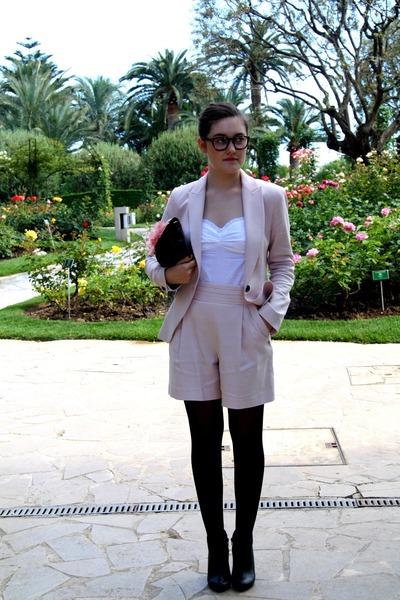 Zara shorts - Zara blazer - H&M bra