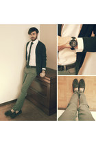 charcoal gray skinny jeans Zara jeans - off white Galeries Lafayette shirt