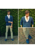 navy Liberto loafers - eggshell slim Zara pants
