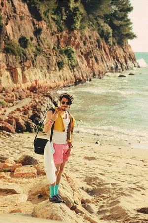 Primark shoes - pink Primark shorts - yellow H&M vest