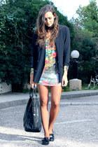 black Pepe Moreno shoes - Etoile du Monde dress - black weekday blazer