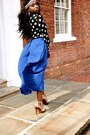 Blue-forever-21-skirt-black-floppy-sun-hat-warehouse-hat