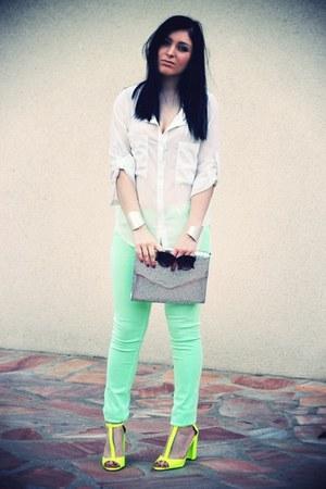 neon Zara heels