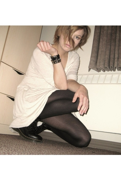 Urban Outfitters dress - H&M - tights - doc martens