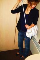 Victorias Secret blazer - Mango top - Mavi - Aldo - earrings - melie bianco purs