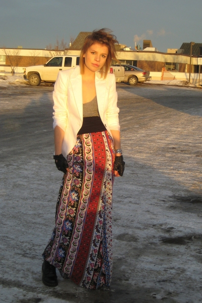 Forever21 dress - Zara blazer - American Apparel - doc martens boots
