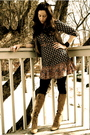 Black-h-m-dress-black-jcrew-tights-beige-kors-by-michael-kors-boots-beige-