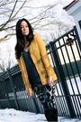Yellow-rodarte-for-target-cardigan-gray-diane-von-furstenberg-leggings-black