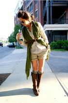 silver Jcrew blouse - silver Jcrew blazer - silver Jcrew socks - brown Golden Go